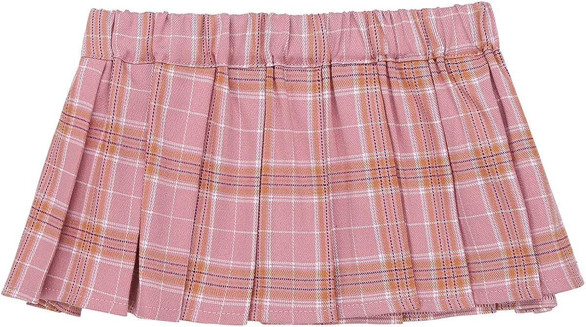 dPois Falda Cuadros Escoceses Mujer Sexy Mini Falda Corto ...