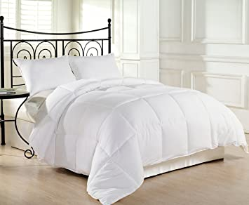 Superb Goose Alternative Down Comforter  Hypoallergenic Duvet Insert Size King,  Queen, Twin   Colors