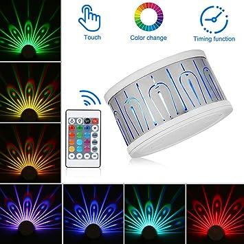 Magice Coloré Paon Veilleuse Lampe De Projection Avec
