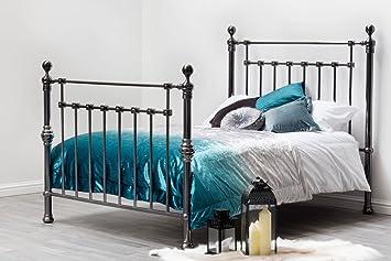d398bb58b3ed York Elegant Black Nickel Finish Modern Victorian Design Bed Frame by Sleep  Design. Double or