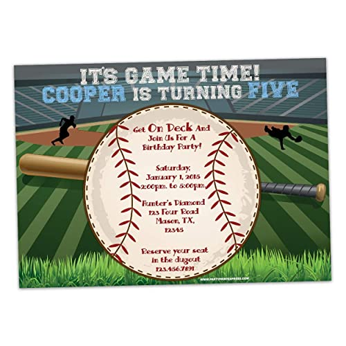 Image Unavailable Not Available For Color Personalized Baseball Invitations Boy Birthday