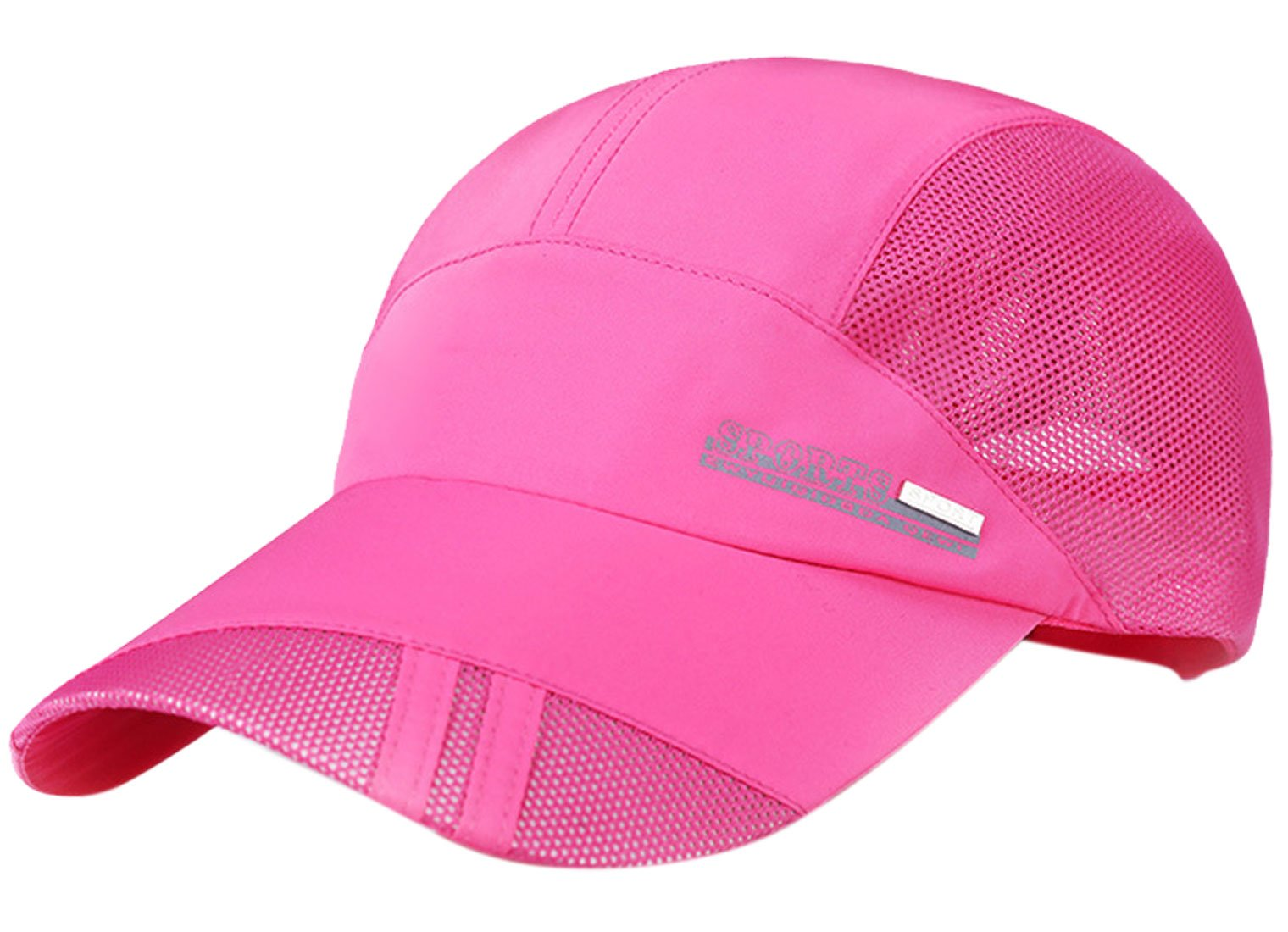 Panegy Unisex Adults Nylon Sun Protection Hat Mesh Cotton Cap for Fishing Hiking Rose Pink by Panegy (Image #1)