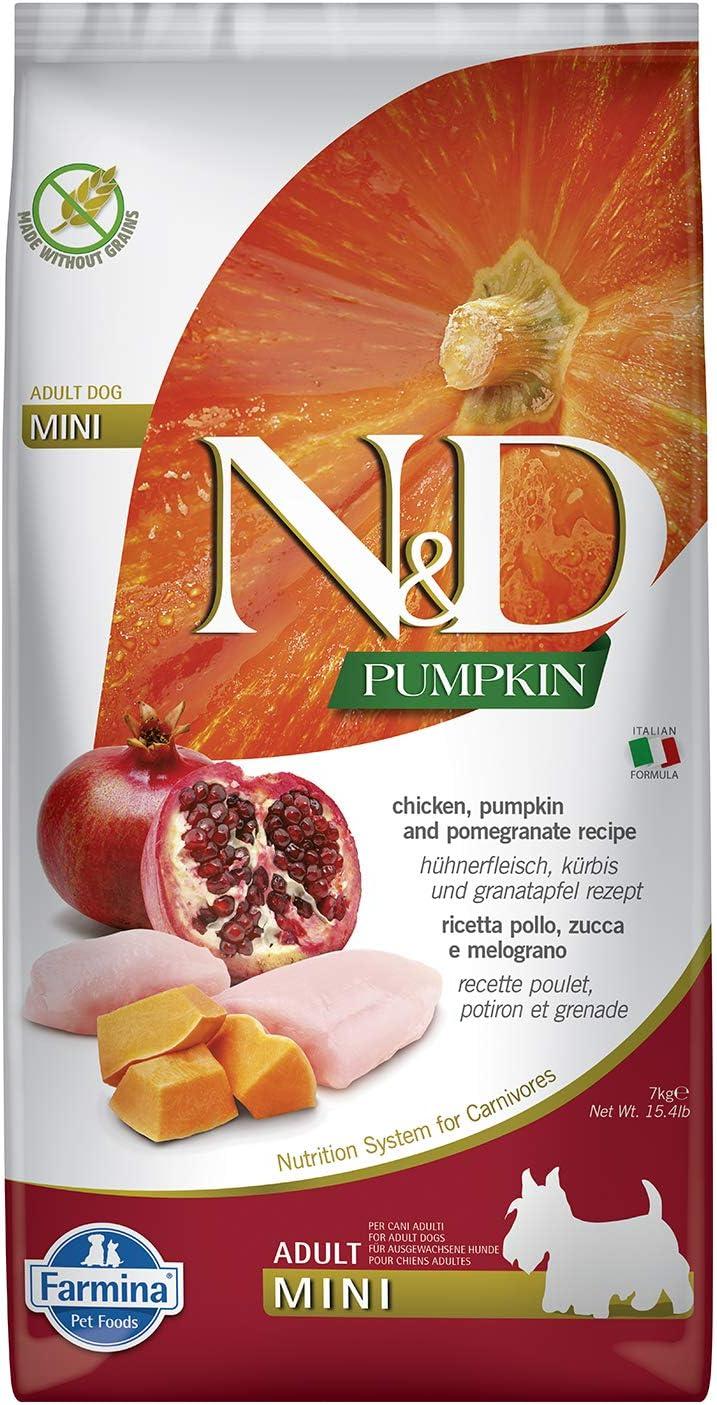 Farmina N&D Dog Dry Grain Free Pumpkin Mini Chicken & Pomegranate 15.4 Pounds