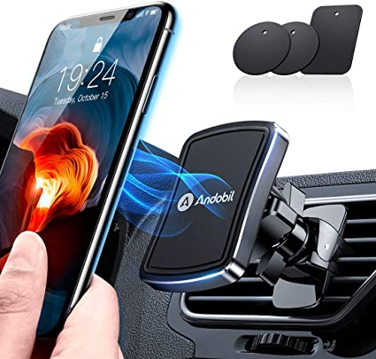 Phone Holder for Car Galaxy Note 9//S10//S8//S7 Upgrade 6 Strong Magnetic Car Phone Mount 360/° Rotation Phone Magnet Car Mount Air Vent Phone Holder Compatible iPhone Xs MAX//XR//X//8//7 iPad Air 2//Mini 3
