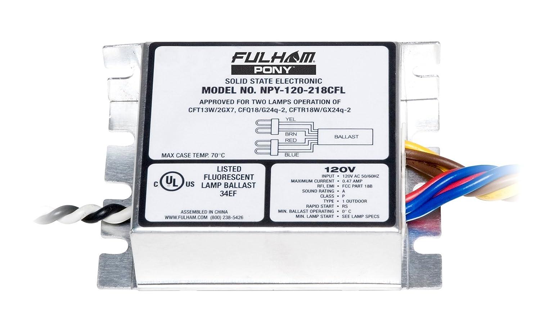 Fulham Npy 120 218 Cfl Pony Ballast Electrical Ballasts Workhorse 5 Wiring Diagram