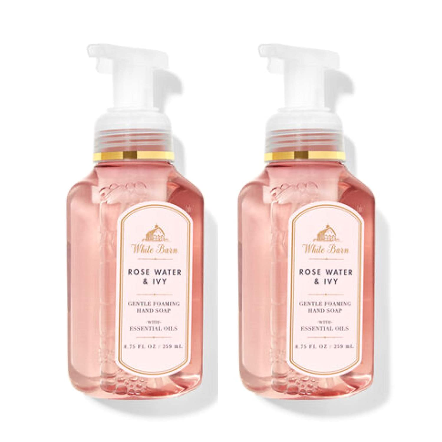Bath & Body Works Gentle Foaming Hand Soap in ROSE WATER & IVY (Pack of 2)