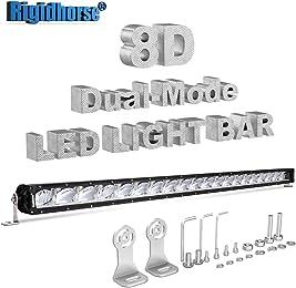 LED Light Bar Rigidhorse 47 Inch 400W 8D Dual-Model Light Bar DRL/Night Light Spot Light For SUV Truck ATV Pickup