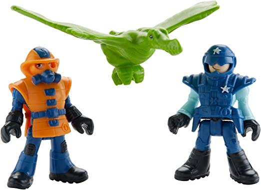 NEW Fisher Price Imaginext Jurassic World Park Workers /& Pterodactyl