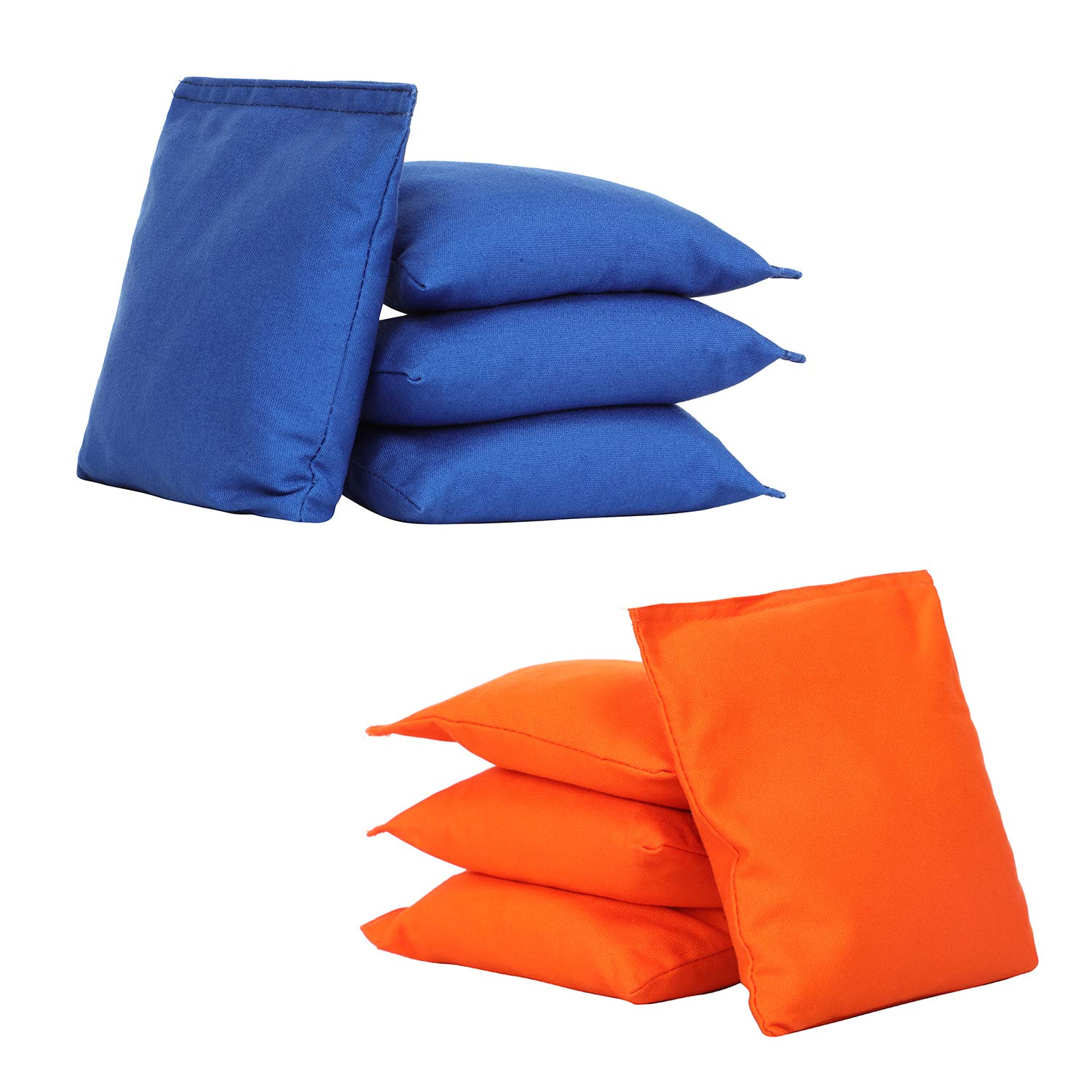 UKASE Weather Resistant Cornhole Bean Bags Sets of 8 Orange and Navy Blue