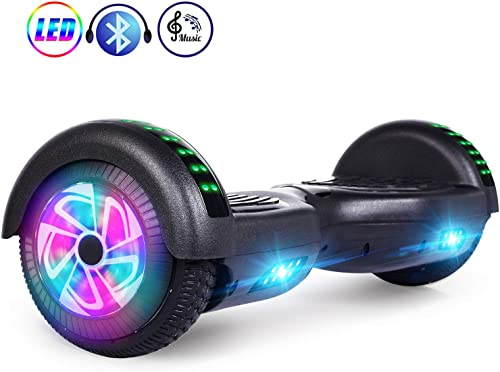 LENOGE Hoverboards 6.5 Two-Wheel Self Balancing Scooter with Bluetooth Speaker LED Lights,UL 2272 Certified Best Gift for Kids