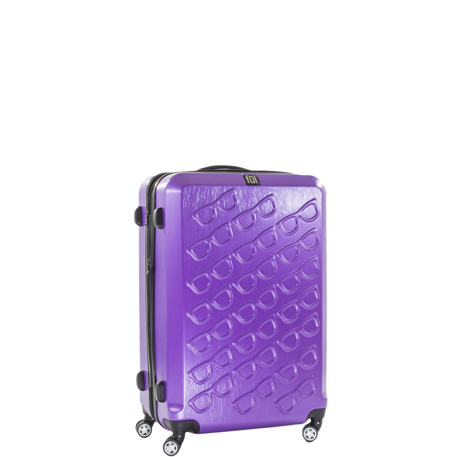 Ful Sunglasses 21in Spinner Rolling Luggage Suitcase Carry-On Luggage, Purple