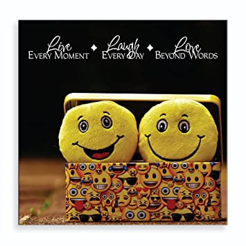 Amazon.com: Smilies laugh everyday Aluminum Metal Photo Print Wall ...