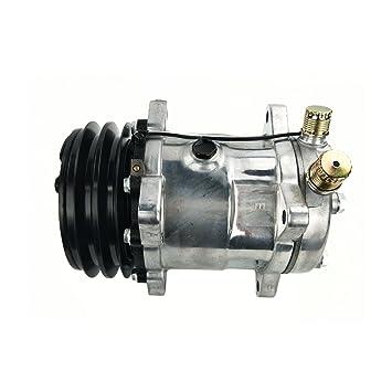 ACTECmax - Compresor universal de aire acondicionado con arena de embrague negra 2PK 508 5H14 R134A: Amazon.es: Coche y moto