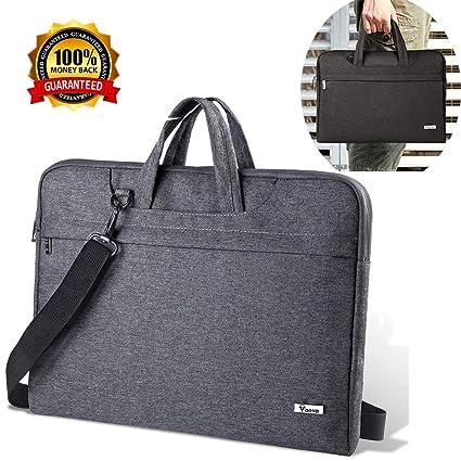 816cffe18b8a V Voova Laptop Shoulder Bag, Briefcase Messenger Tote Case, Compatible 15  15.6 Inch Acer MacBook Pro Notebook/Dell Ultrabook/Chromebook, Grey