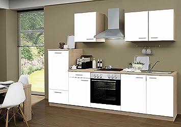 idealShopping Küchenblock mit Cerankochfeld Classic 270 cm in weiß ...