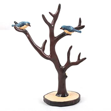 Amazoncom Jewelry Tree Bird Stand Display Earring Necklace Holder