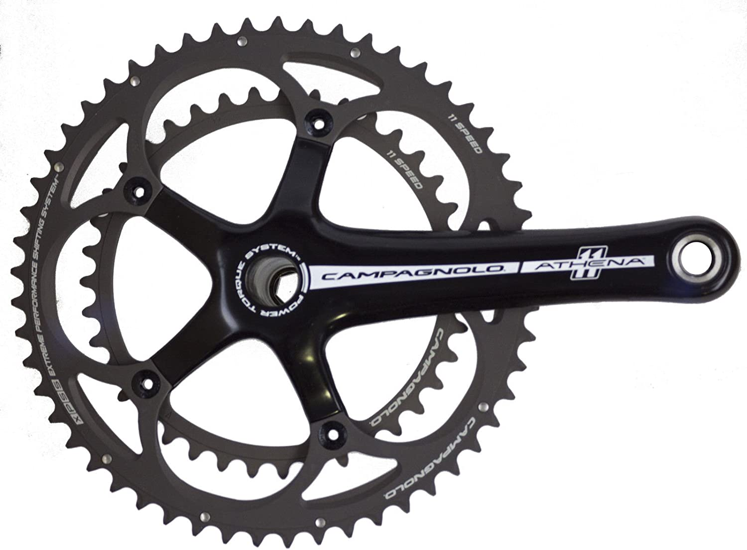 Campagnolo Athena Crankset Carbon Power Torque System 11 Speed 172.5 mm 53-39t