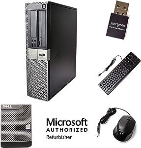 Dell Optiplex 980, Intel Core i5 3.2-GHz, 8 gb Ram, 500 GB Hard Drive, DVD Drive, WiFi, Windows 10 Professional Pro (Renewed)