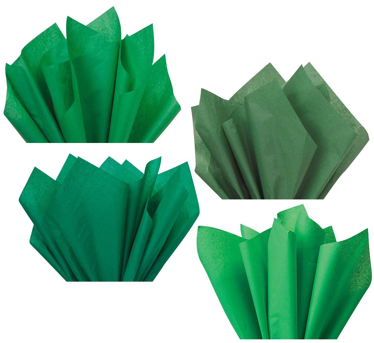 Hunter Ivy Kelly Pine Green Assorted Mixed Color Multi-Pack Tissue Paper for Flower Pom Poms Art Craft Wedding Bridal Shower Party Gift Bag Basket Filler Decoration by Secret for Longevity