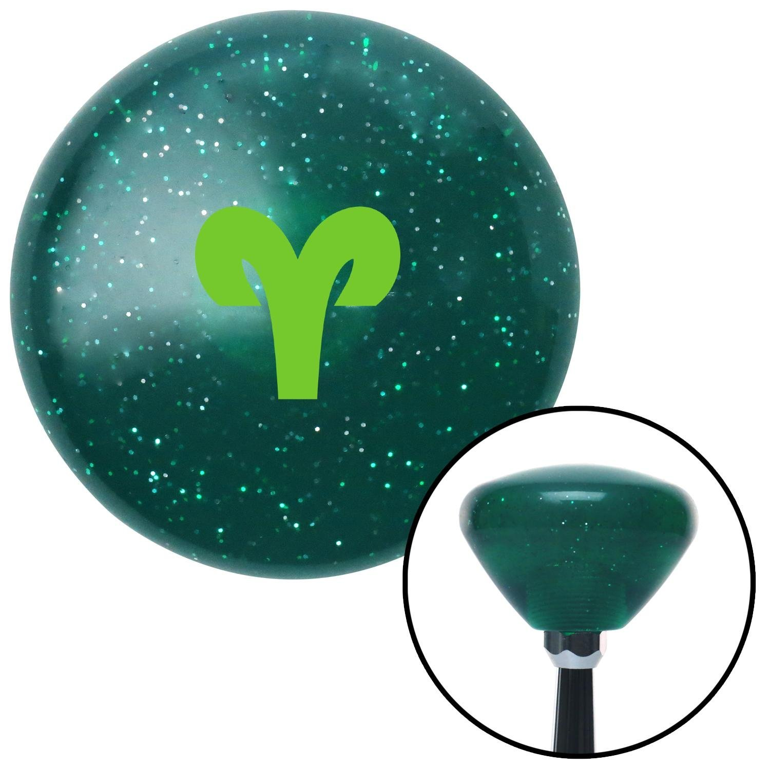American Shifter 291874 Shift Knob Green Aries Green Retro Metal Flake with M16 x 1.5 Insert