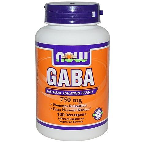 NOW Foods - Magnesio 750 de GABA. - 100 cápsulas vegetarianas