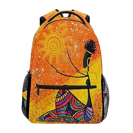 90b6adb98508 Amazon.com : African Girl Holds Sun Digital Backpack Waterproof ...