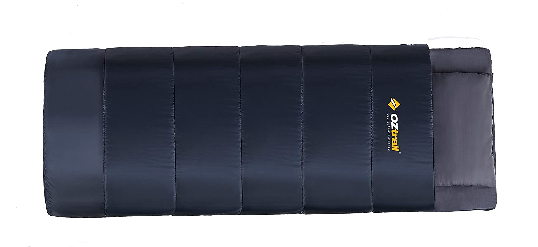Oztrail - Saco de dormir con colchoneta integrada<br>2 en 1 Pionner B&B Combo saco con esterilla SBA-PIO-B 80x210x4cm 0ºC 3kg full size mattress and ...