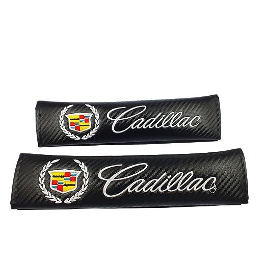 2pair New Cadillac Seat-belt Shoulder Pads New 1pcs Cadillac Keychain Lanyard Badge Holder