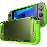 Mumba Nintendo Switch case [Slimfit Series] Premium Slim Clear Hybrid Protective Case for Nintendo Switch 2017 release (Green)