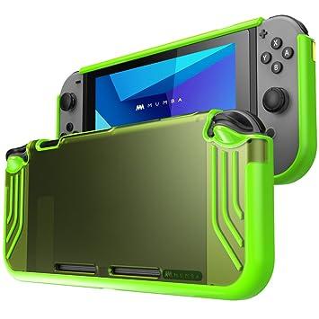 Mumba Carcasa Nintendo Switch, [Slimfit Series] Funda Delgada Híbrida para Nintendo Switch (Verde)