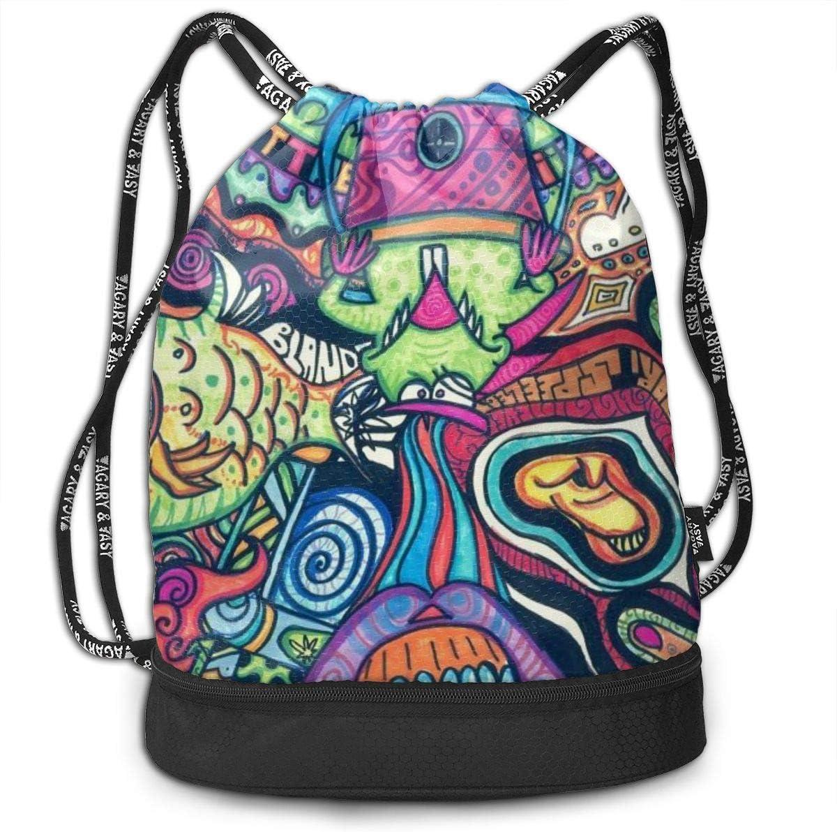GymSack Drawstring Bag Sackpack Surrealism Art Sport Cinch Pack Simple Bundle Pocke Backpack For Men Women