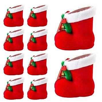 Weihnachtsdeko Klingel.10 Stück Nikolausstiefel Zum Befüllen Süßigkeiten Bonbons