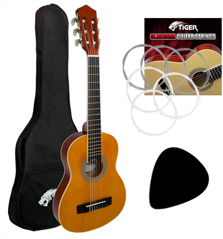 Principiantes 3/4 tamaño guitarra clásica paquete: Amazon.es ...