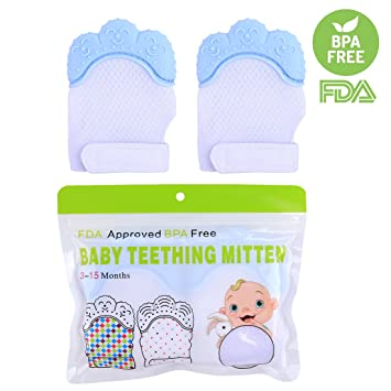 Baby Kind Silikon Beißring Fäustlinge Handschuhe Zahn