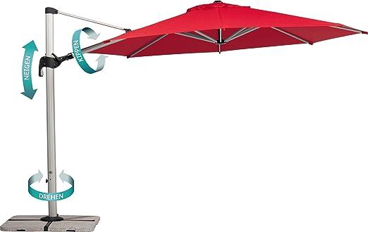 Amazon.de: Schneider Sonnenschirm Barbados, anthrazit, 350 cm rund ...