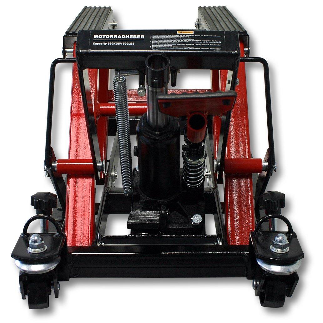 WilTec 680kg Pont /Él/évateur Plateforme /Élevatrice Moto Support Montage Levage ATV Quad