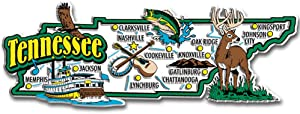 Tennessee State Jumbo Map Magnet