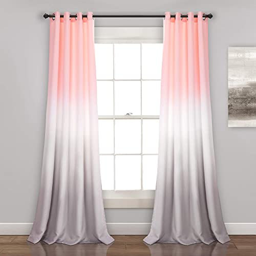 Lush Decor Umbre Fiesta Curtains Room Darkening Window Panel Set