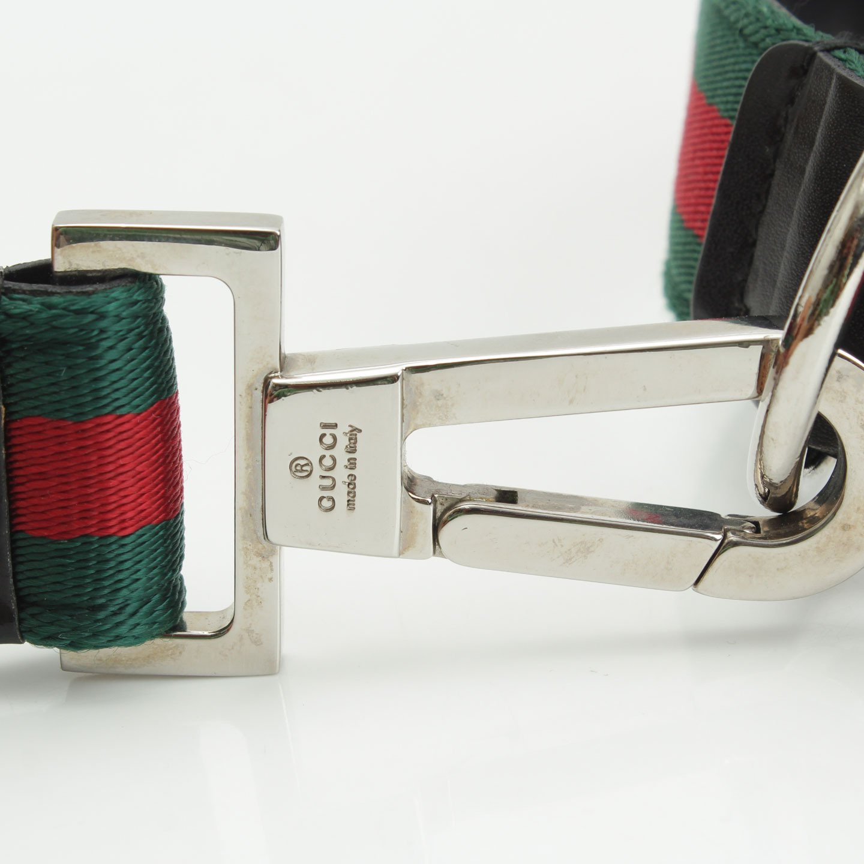 7b31abb83ddb Amazon.co.jp: グッチ シェリーライン ペット用首輪 ドッグリード セット トリコロール: 服&ファッション小物