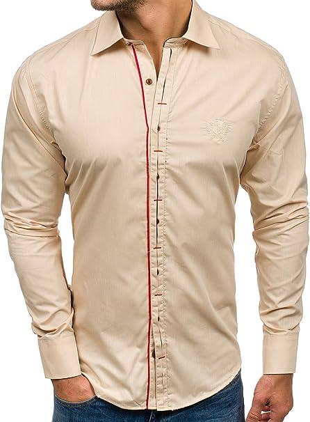 Herren Herrenhemd Freizeithemd Hemd Shirt Fit Classic Casual BOLF 2B2 Unifarben