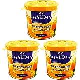 My Shaldan Orange Car and Home Air Freshener (80 g, Pack of 3)