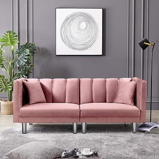 Best living room sofa: Velvet Futon Sofa Bed