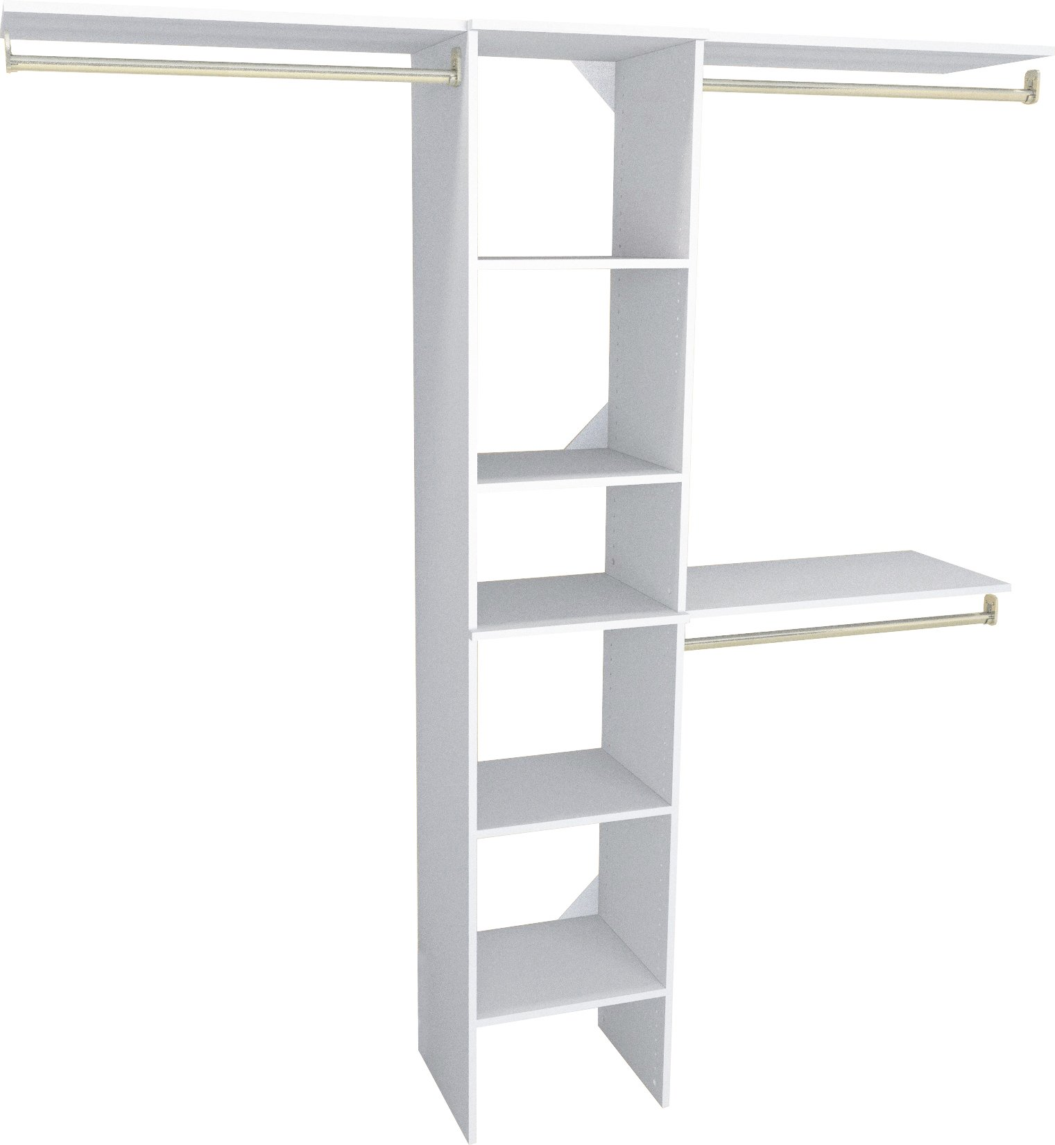 ClosetMaid 1951040 SuiteSymphony 16-Inch Closet Organizer with Shelves, Pure White