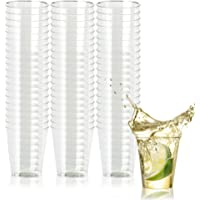 500 Disposable Hard Plastic Shot Glasses, 1oz(30ml) - Crystal Clear, Heavy Duty, Shatterproof & Reusable Shot Cups - for Shots, Vodka Jelly, Weddings, Dinners, Christmas, New Year - 100% Recyclable