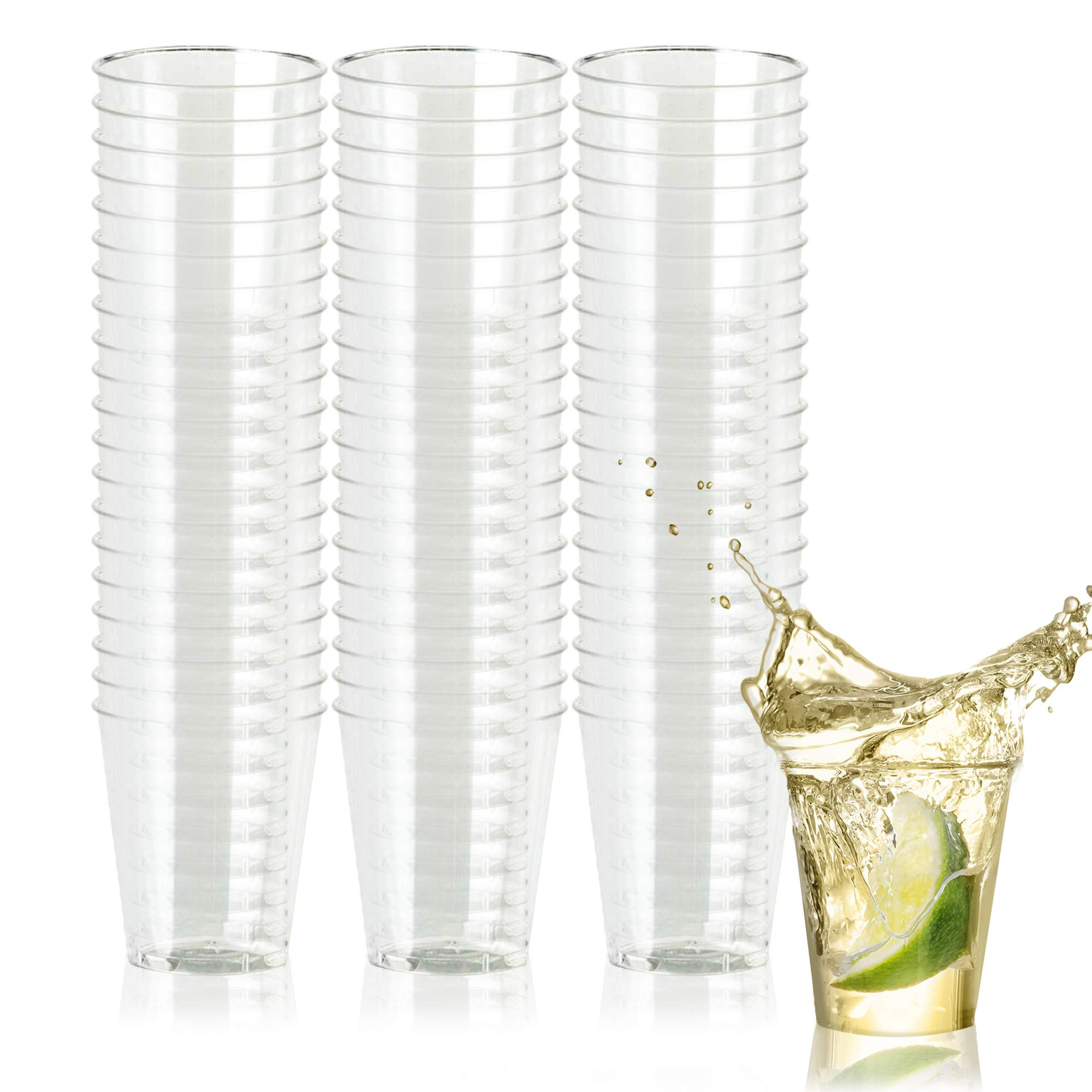 500 Disposable Hard Plastic Shot Glasses, 1oz(30ml) - Crystal Clear, Heavy Duty, Shatterproof & Reusable Shot Cups - for Shots, Vodka Jelly, Weddings, Dinners, Christmas, New Year - 100% Recyclable by Matana
