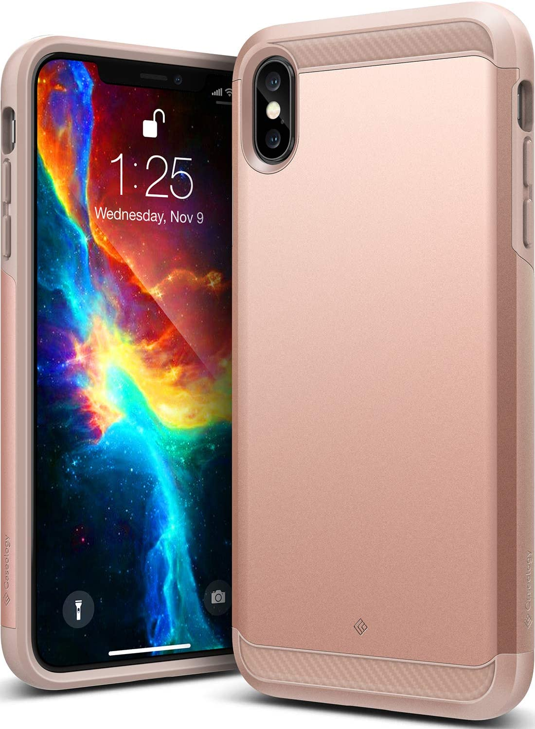 Caseology Legion for iPhone Xs Max Case (2018) - Reinforced Protection - Rose Gold