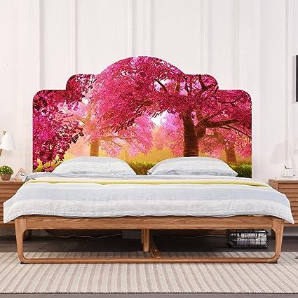 Headboard Wall Decal Headboard Dorm Decor 3D Pink Cherry Blossoms Wall Stciker Vinyl Bedroom Wall Art & Amazon.com: Headboard Wall Decal Headboard Dorm Decor 3D Pink Cherry ...