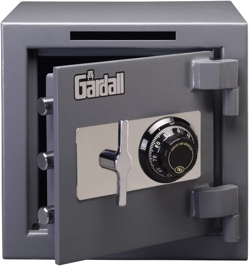 Gardall LCS1414-G-C w Slotted Commercial Light Duty Safe with Mechanical Combination Lock, Grey