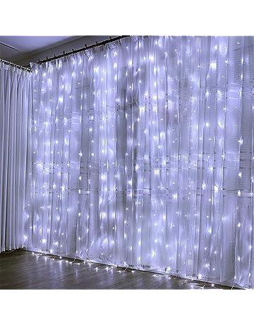 KOBWA Luces de Cortina, 300 Luces de Cadena de Hadas del LED con 8 Modos