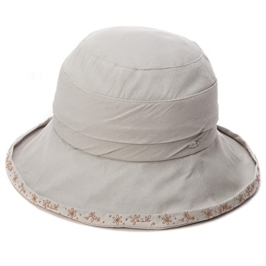 d0042686902 SIGGI Womens UPF50+ Packable Bucket Boonie Sun Hats Fishing Hiking Sunhat  w Chin Cord Gray